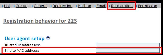 Mac-Registration